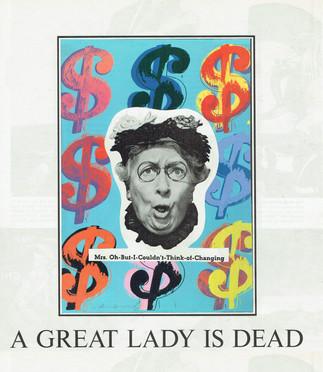 A Great Lady is Dead, 2020
