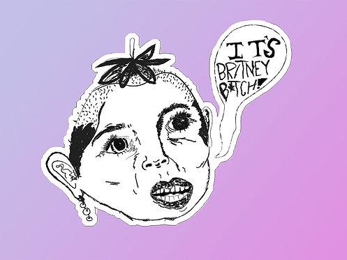 Strawberry Brit Sticker