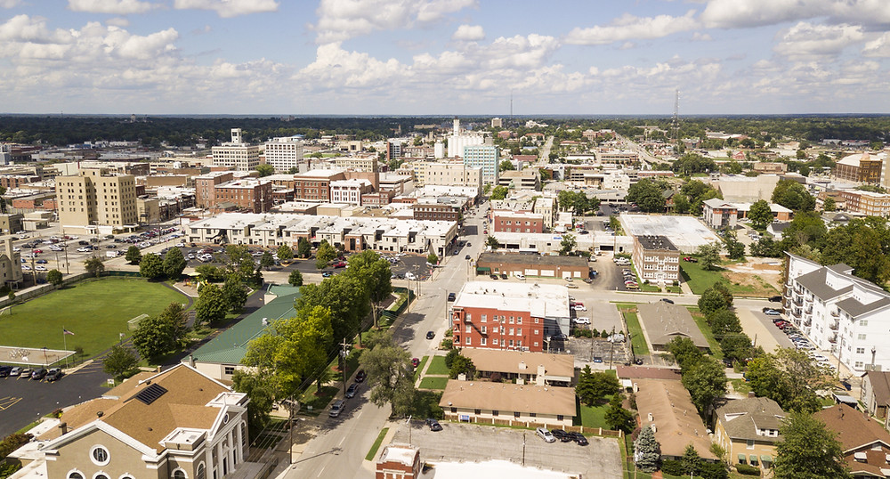 Arial picture of Springfield, Missouri