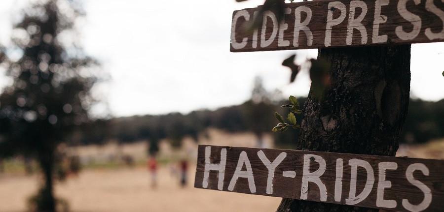 Fall hayride sign