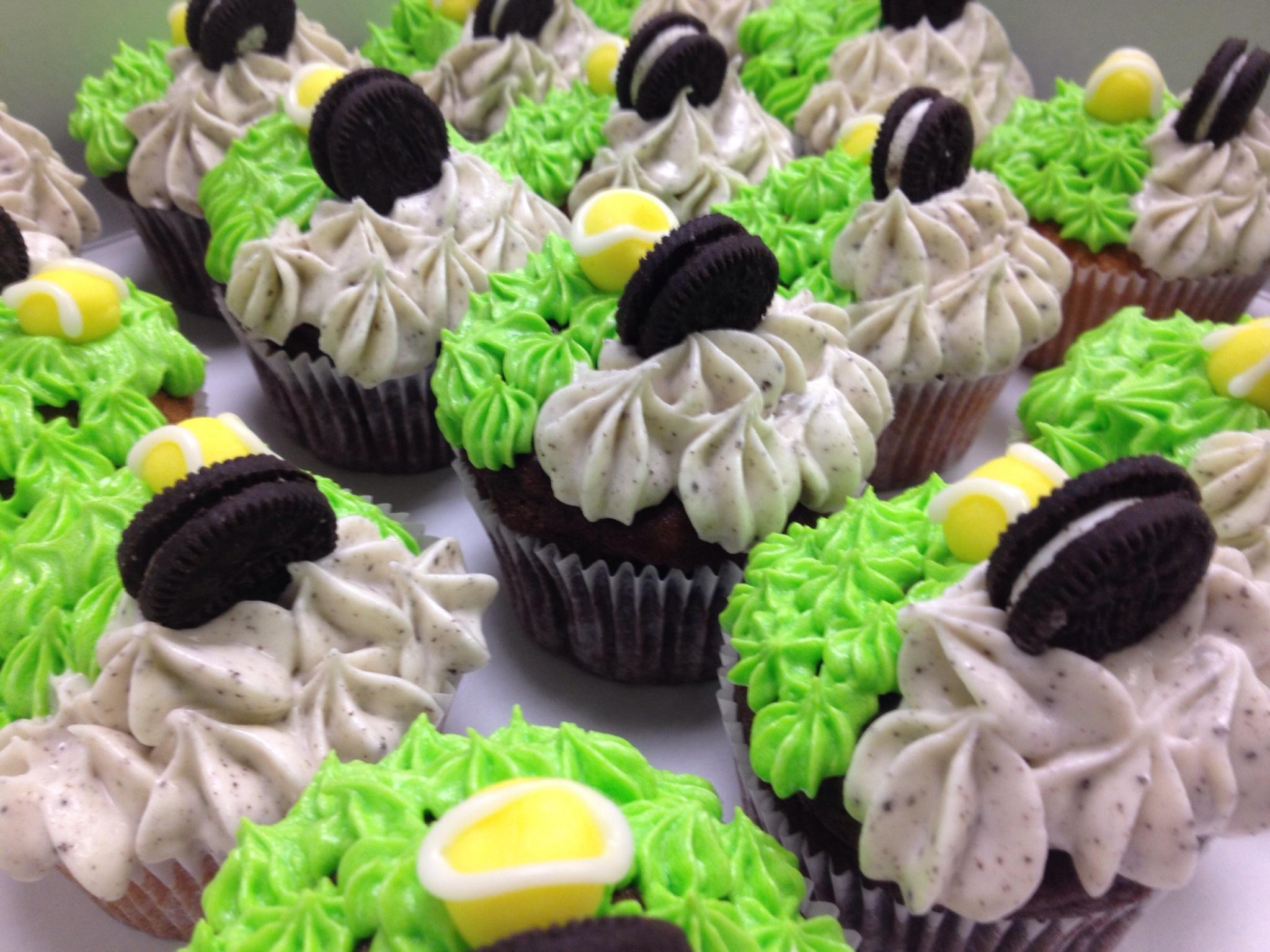Tennis theme Oreo Cupcakes