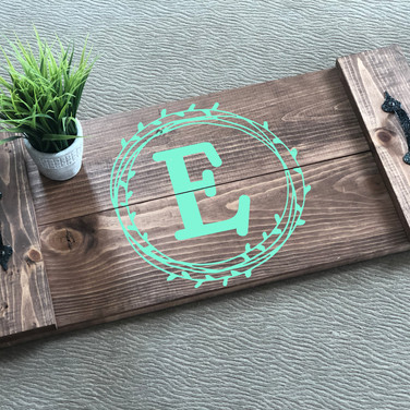 RECTANGLE LETTER WREATH TRAY
