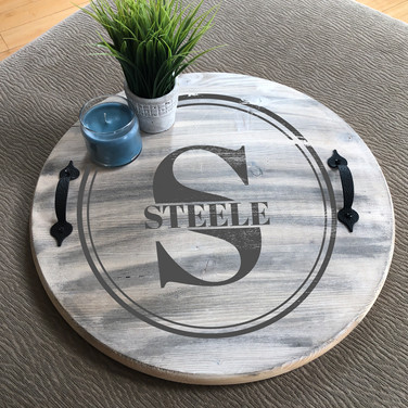 CIRCLE LETTER NAME TRAY