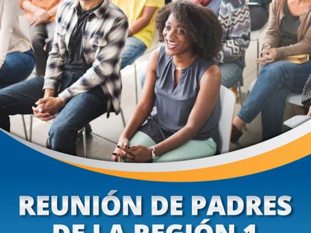 Reunión de padres de la Región 1 en español reprogramada
