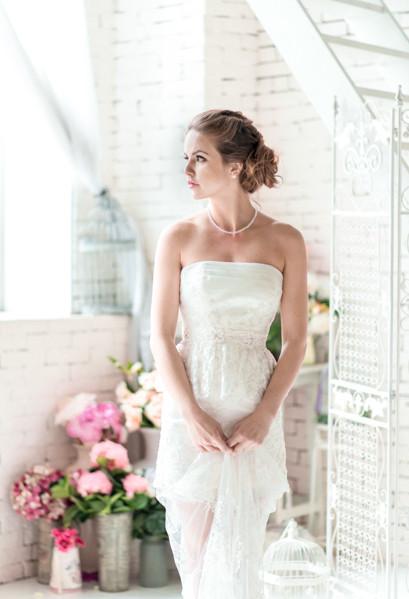 стильный свадебный образ