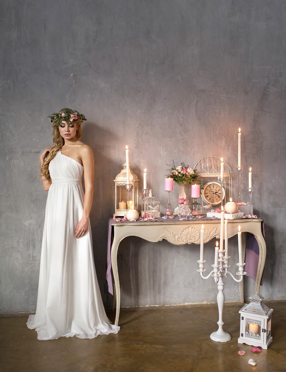 свадебный образ рустик