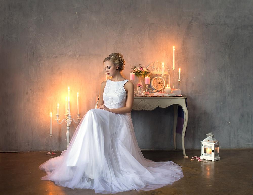 Томная невеста в замке
