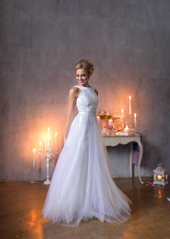 свадебное платье с шифоном