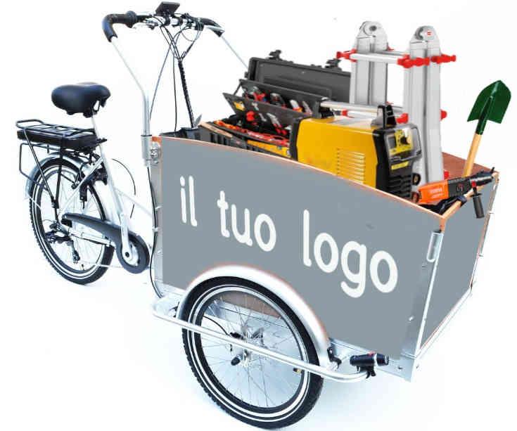 ideale per trasportare i tuoi attrezzi di lavoro e per muoverti agilmente all'interno degli stabilimenti produttivi per le tue manutenzioni