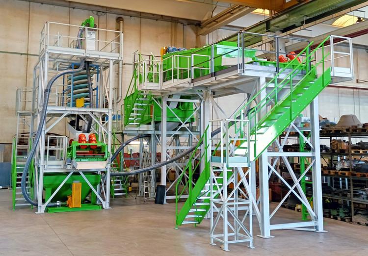 impianto trattamento rifiuti da spazzame