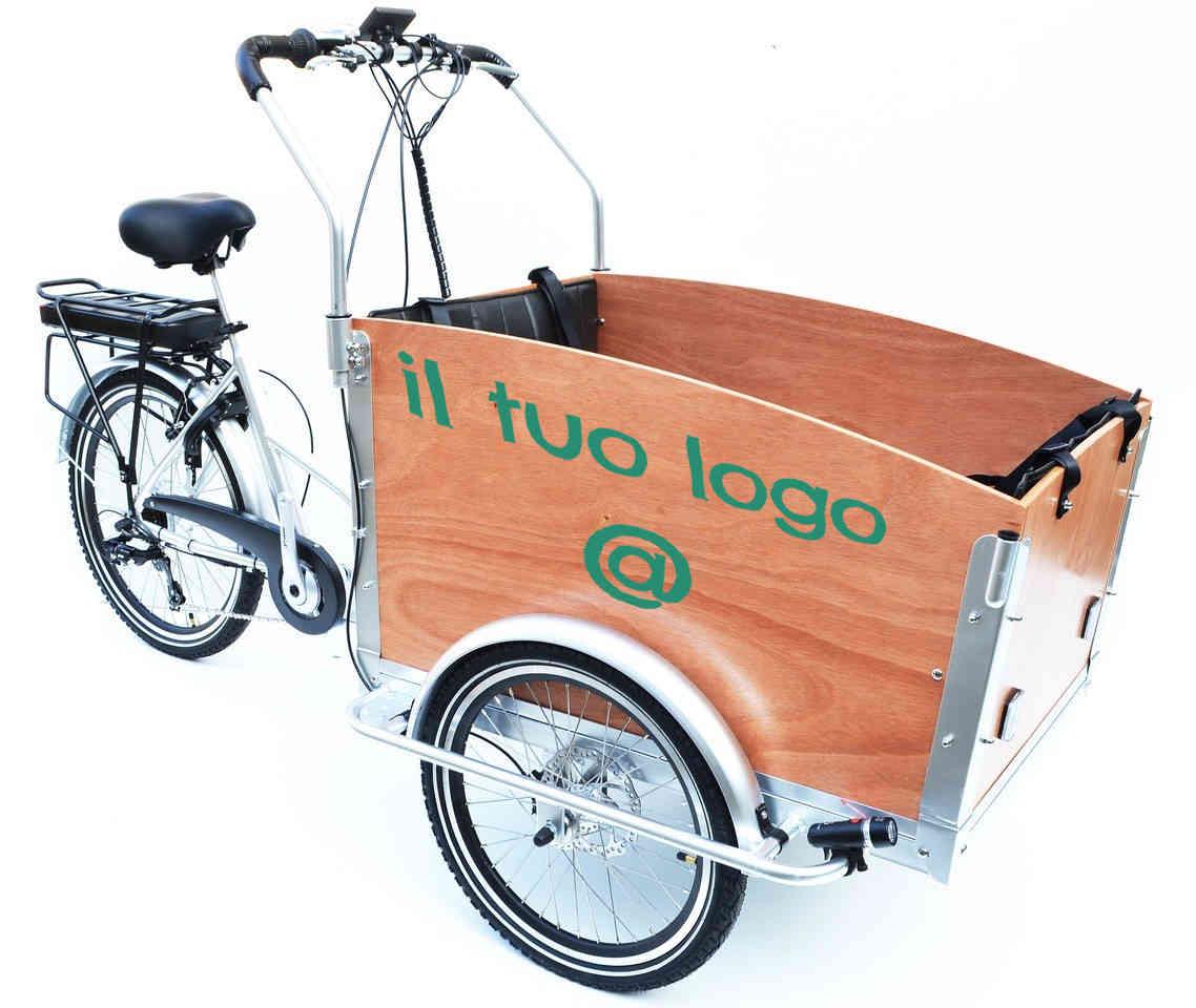 canguro e-bike con il logo della tua attività!