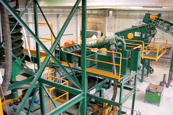 parti di impianto di soil washing
