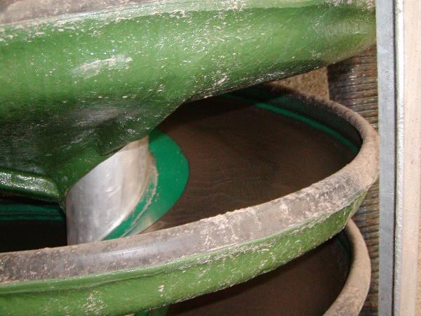 particolare spirali per separazione gravimetrica delle sabbie dalla torbida