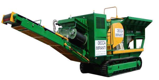 gruppo di frantumazione mobile cingolato nei modelli GFC50 (frantoio CR500L&P) GFC40 (frantoio CR400L&P)
