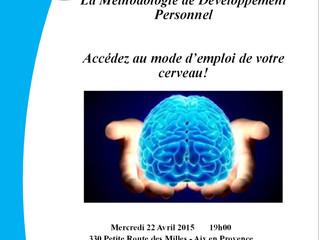 Conférence table ronde Votre cerveau, mode d'emploi avec la Méthodologie de Développement Person