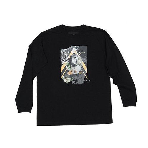Collage art collaboration B long t-shirt