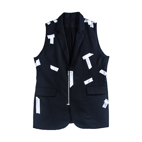Tapping print vest