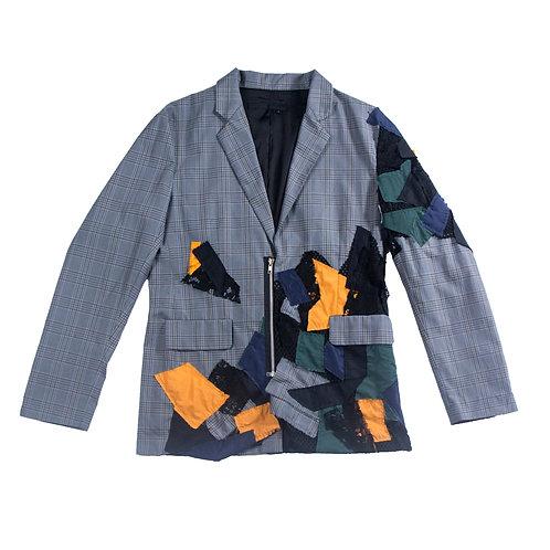 Patchwork suit jacket