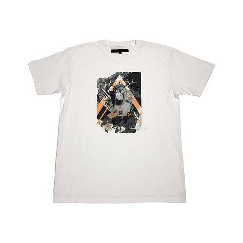 Collage art collaboration B t-shirt