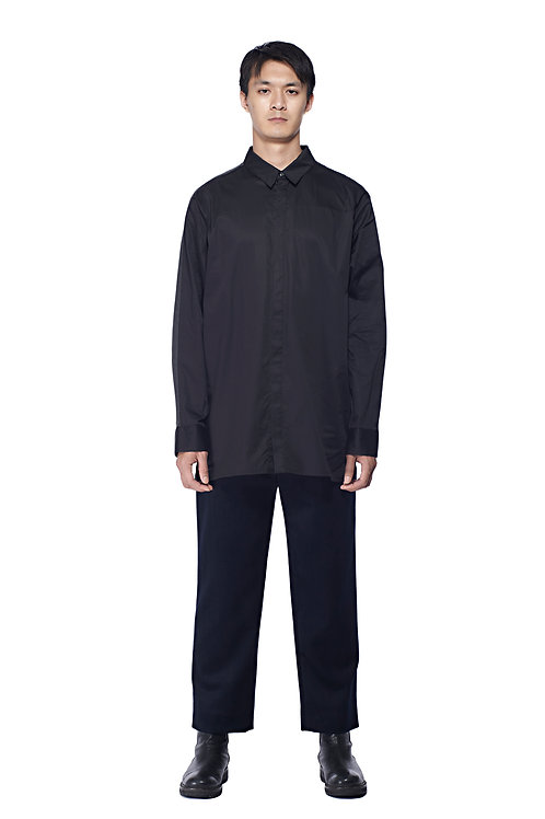 BLACK COTTON REFLECTIVE SHIRT