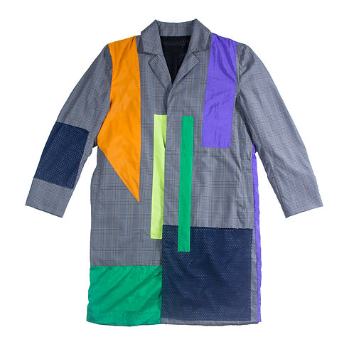 Ope patchwork coat