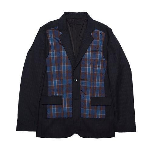 Padding patch work suit jacket