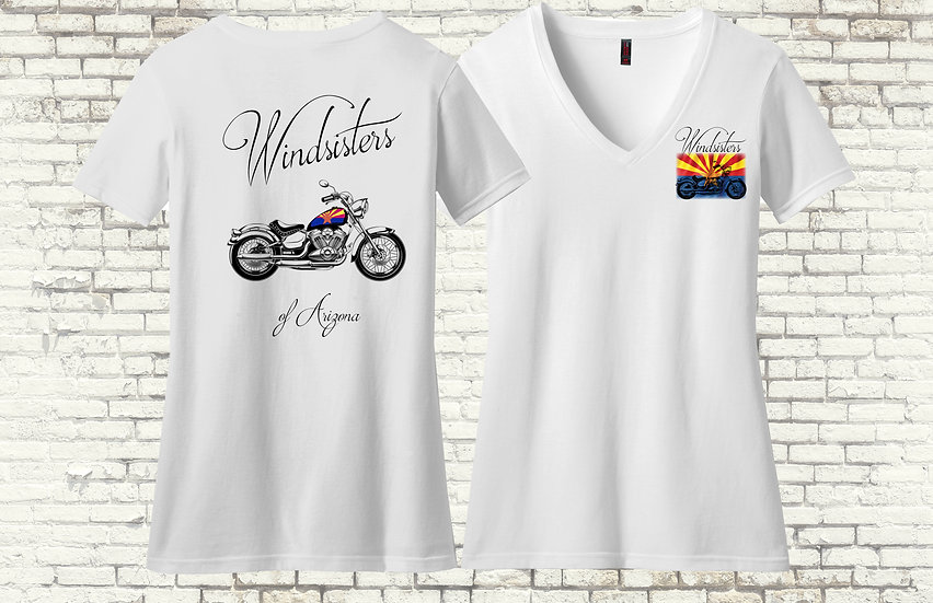 Windsisters Az Flag Tank Short Sleeve V-Neck T-Shirt