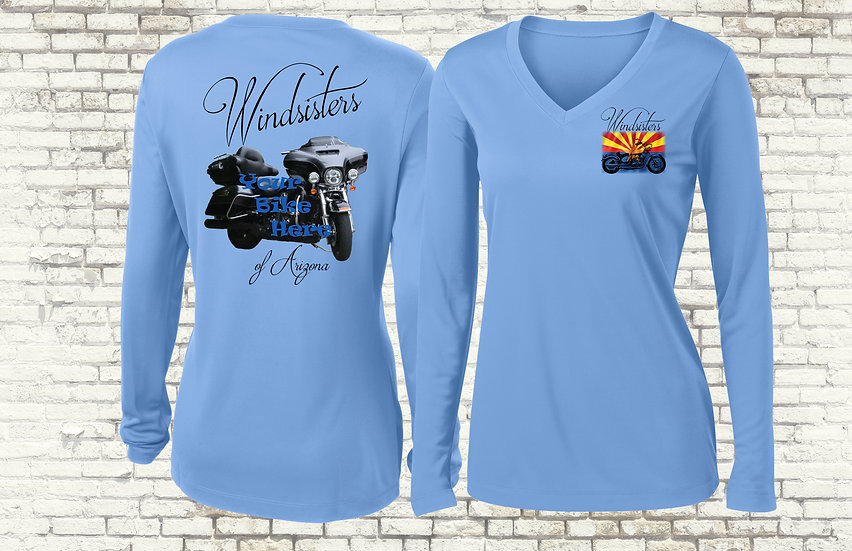 Custom Windsisters Moisture-wicking Long Sleeve Shirt with Your Bike