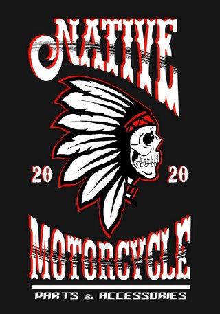 Native Motorcycle Print Tee