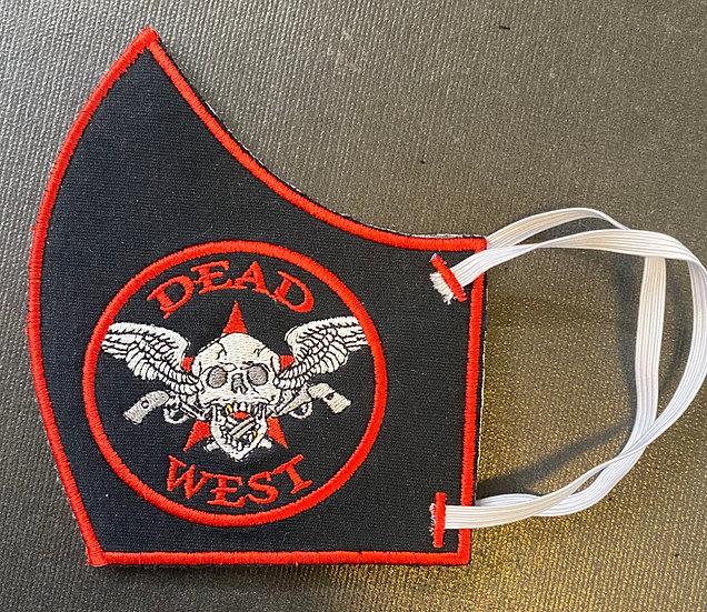 Dead West Custom Embroidered Face Mask