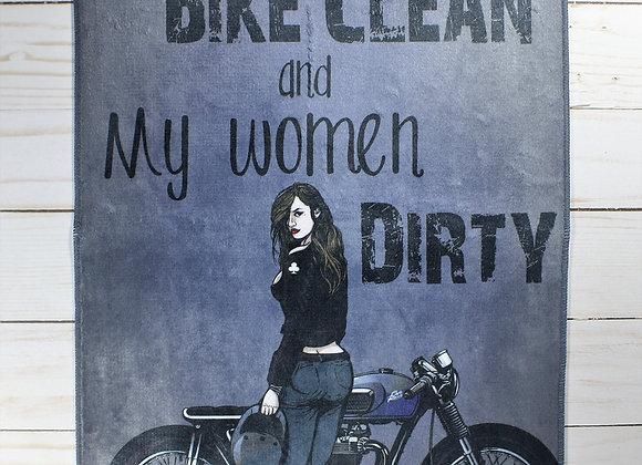"""""""Dirty Women"""" Bike Wash Towel"""