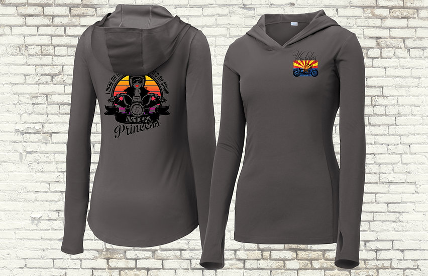 Motorcycle Princess Hooded Moisture-wicking Long Sleeve Shirt