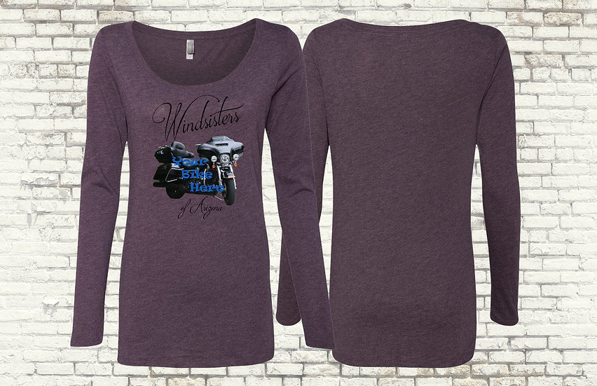 Custom Windsisters Long Sleeve T-Shirt with Your Bike