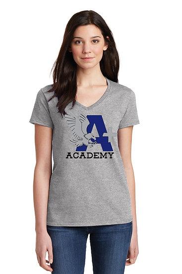 "A+ ACADEMY ""HAWKS"" Women's V-Neck Tee"