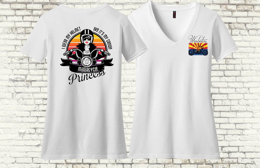 Motorcycle Princess Short Sleeve V-Neck T-Shirt