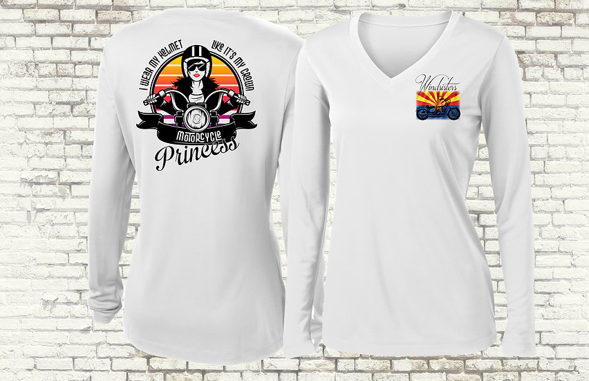 Motorcycle Princess Moisture-wicking Long Sleeve Shirt