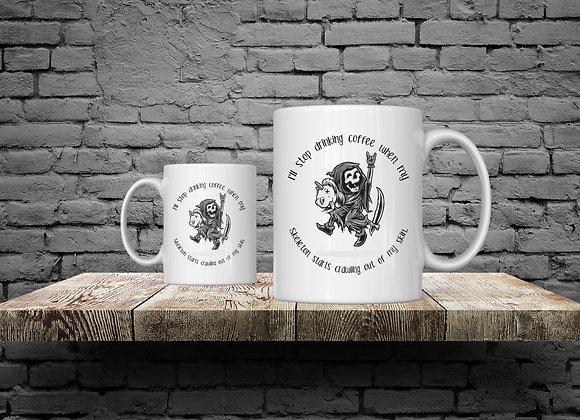 Skeleton riding stick unicorn 15 oz Coffee Mug