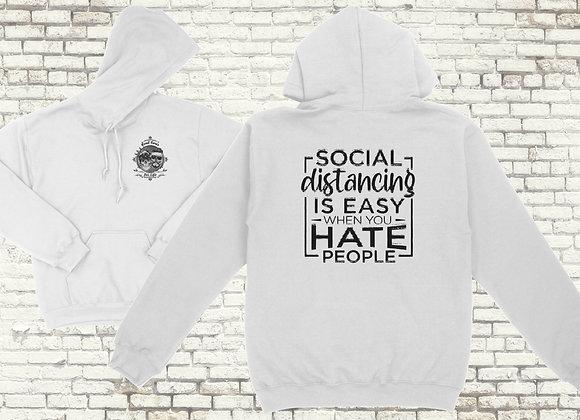 Social Distancing is easy Hoodie