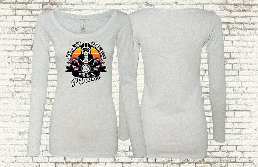 Motorcycle Princess Long Sleeve T-Shirt