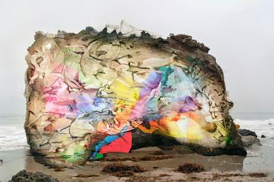 "Brandon Hudson, ""Through the Prism - El Matador State Park, California,"" 2019, inkjet print on rag paper with clear acrylic medium."