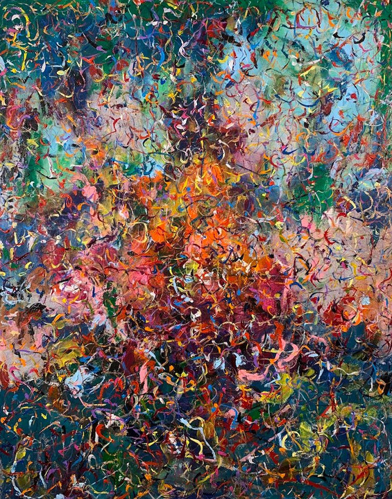 """Phillip Michaels, """"Rising From Within,"""" 2020, acrylic on canvas."""