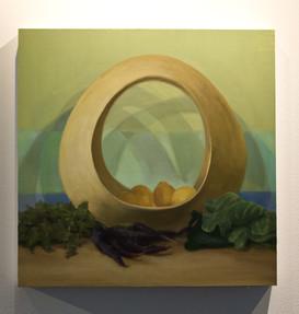 "Nicole Duet, ""Circle Basket,"" 2021, Oil"