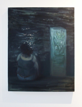 """Nicole Duet, """"Moonlight and the River,"""" 2020, Oil"""