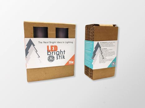 GE Bright Stik Packaging Design