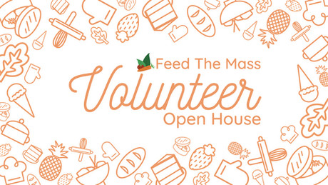 Feed the Mass Volunteer Poster