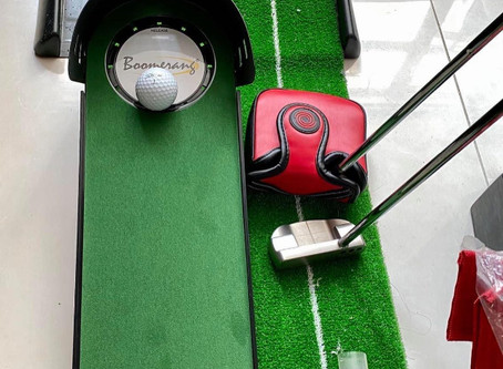 The Boomerang is not just a putting trainer it's a tough skill challenge and a ball returner...