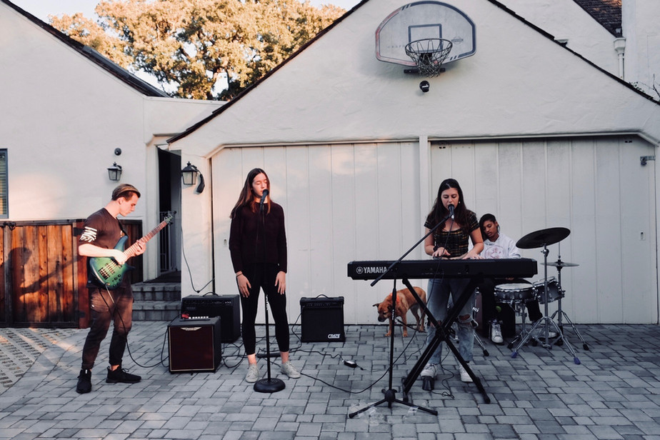 reverie playing outside of brindha's garage :)