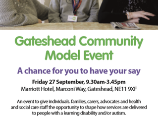Gateshead Community Model Event - 27th September