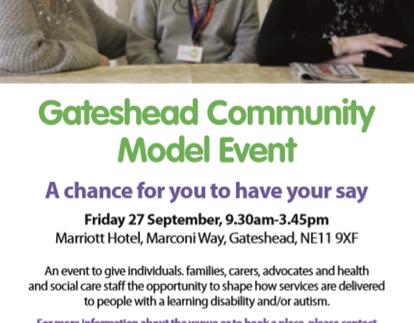 Gateshead Community Model Event - 27th September