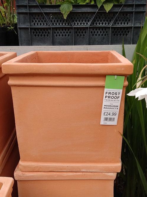 Terracotta square pot W36xH36cm